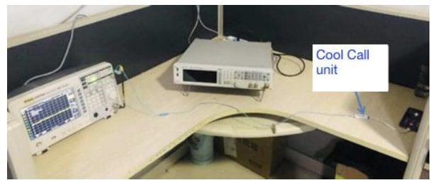 test with anti radiation headset