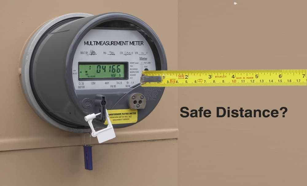 Minimum Safe Distance from a Smart Meter